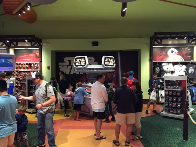 A new wall has been placed at the one end of the store, where once the train circled above. Now this third section of the store is devoted to Star Wars. Photo by J. Jeff Kober.
