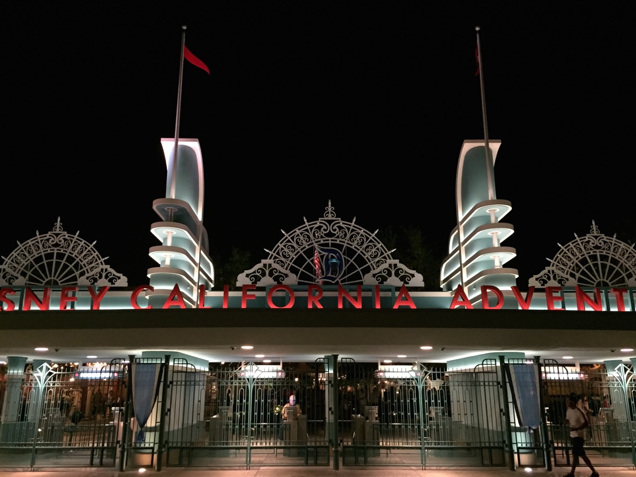 The park's entrance celebrating Disneyland's Diamond Jubilee. Photo by J. Jeff Kober.