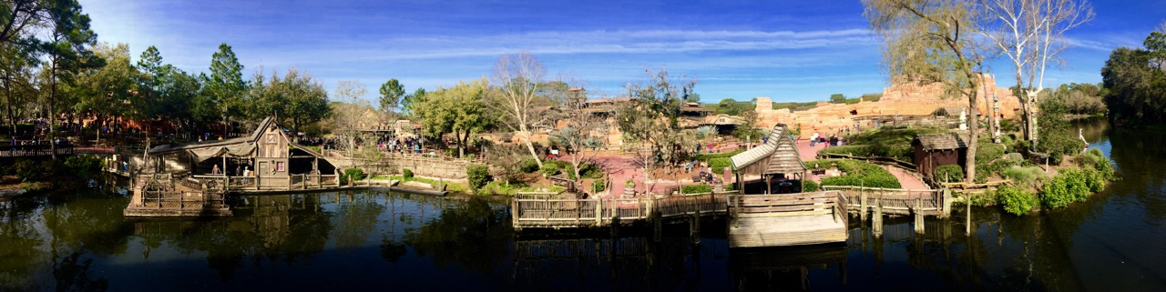 The banks of the Rivers of America in a quieter moment. Photo by J. Jeff Kober.