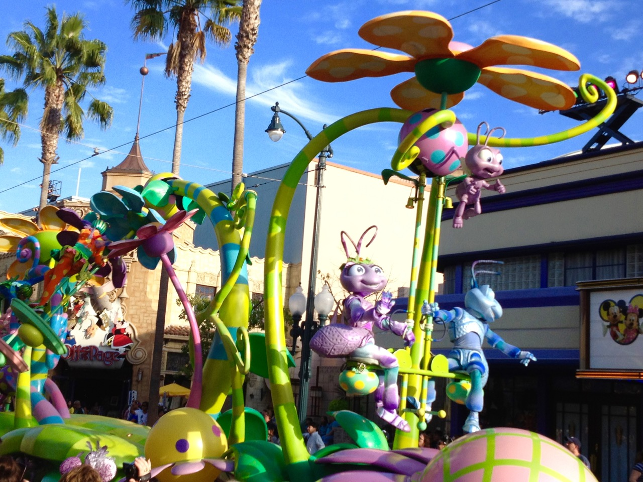 Pixar's Play Parade rolling down Hollywood. Photo by J. Jeff Kober.