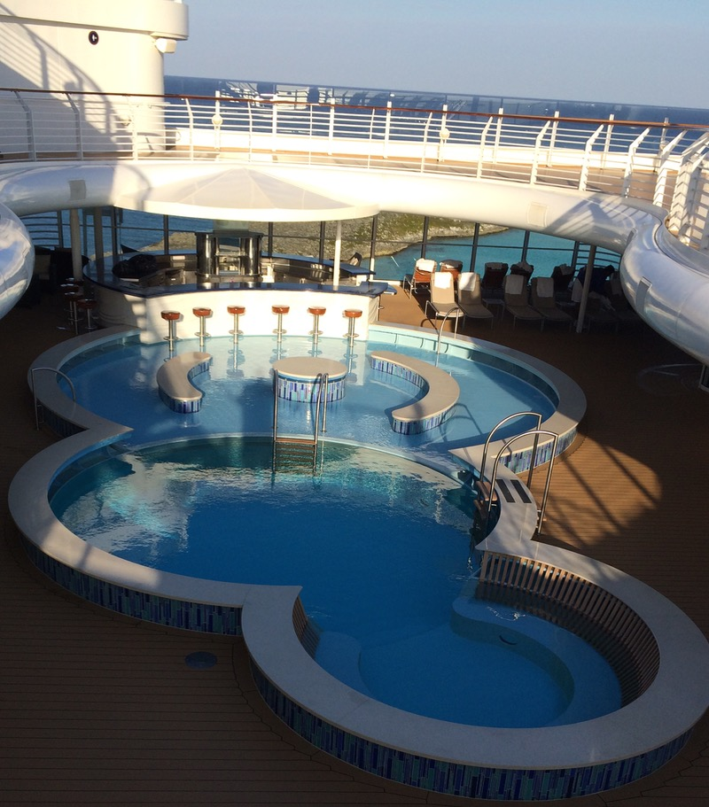 The adult pool on the Disney Dream. Photo by J. Jeff Kober.