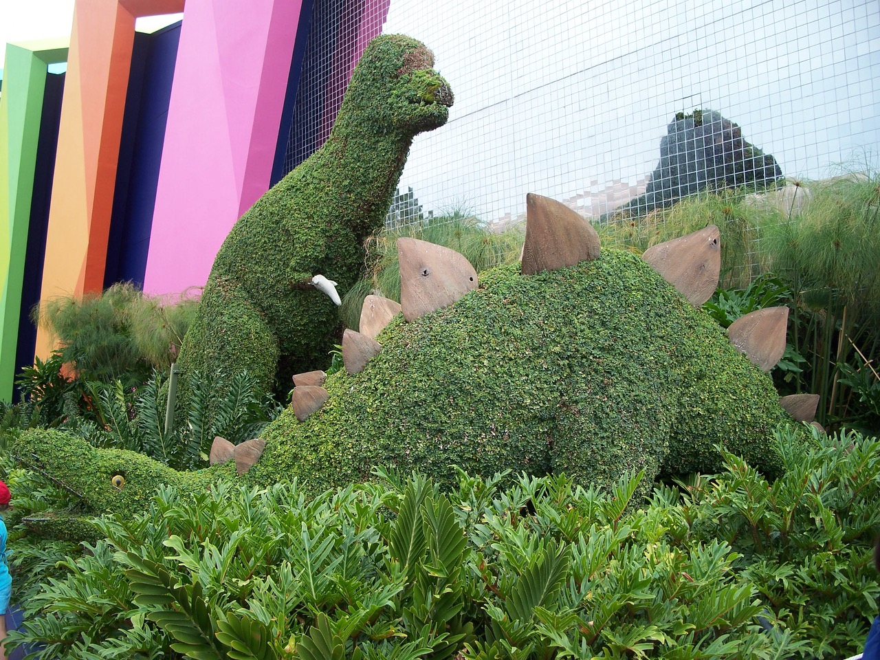 This is a serious dinosaur garden--unfortunately it no longer exists. Photo by J. Jeff Kober.