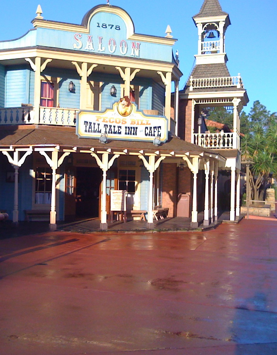 The streets of Frontierland all paved in red. Photo by J. Jeff Kober.