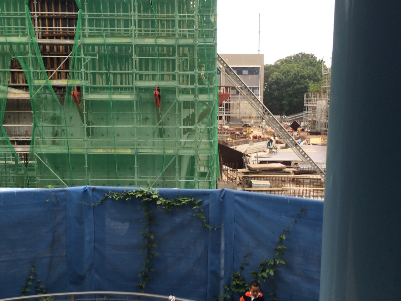 The Iron Man Ride under construction at Hong Kong Disneyland. Will it be enough to increase attendance dramatically. Photo by J. Jeff Kober.