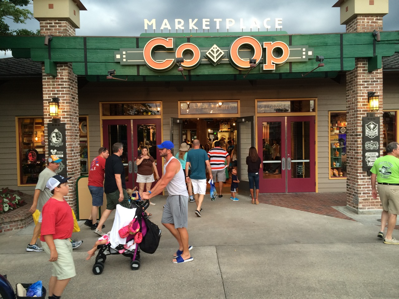 The new Marketplace Co Op was once Mickey's Character Shop, one of the best places to look for souvenirs before heading home from your vacation. It would be replaced by a much bigger World of Disney store. But the original building itself comes from when the Village first opened. Photo by J. Jeff Kober.