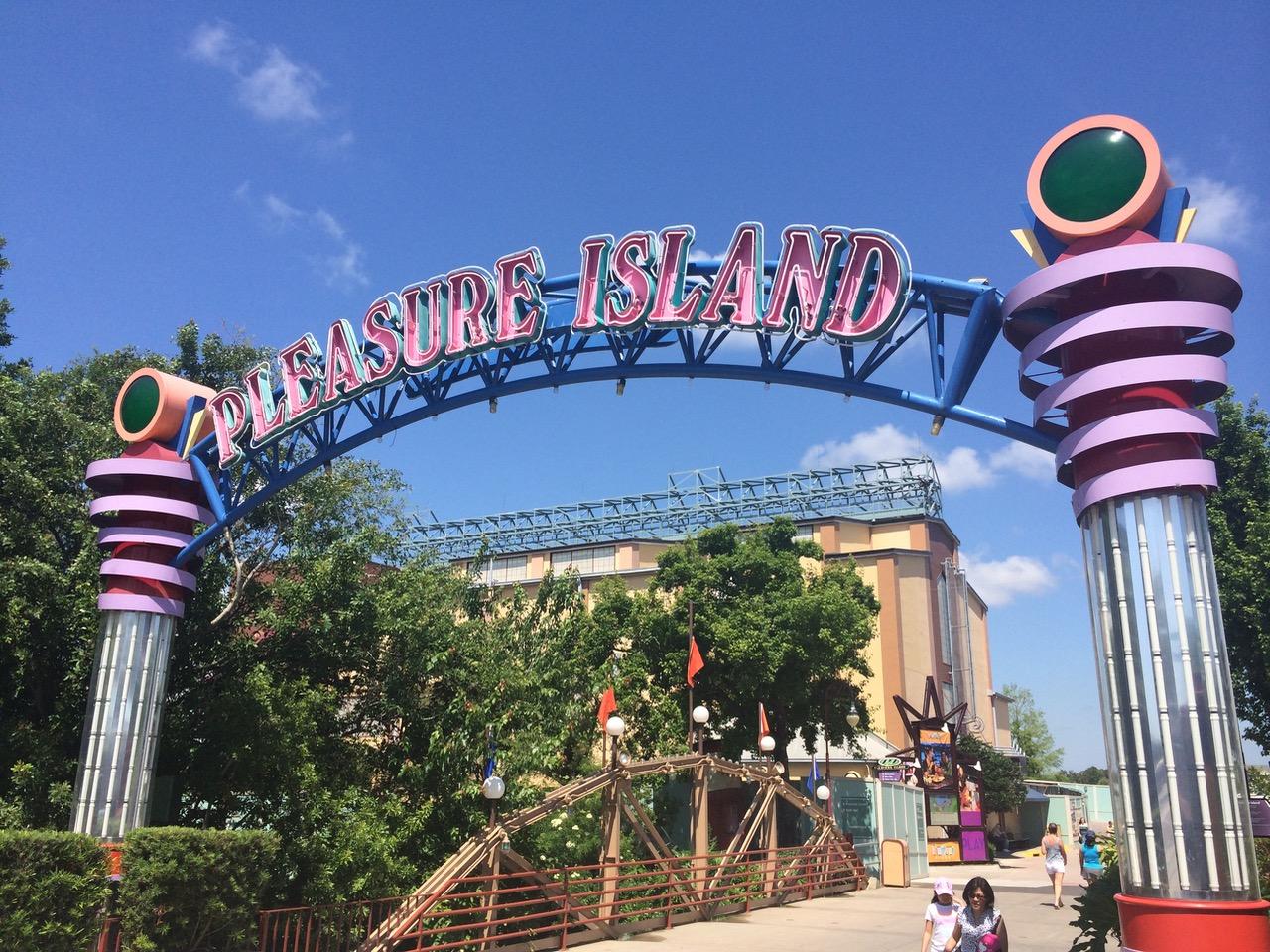 Pleasure Island was an entertainment offering unlike anything on Walt Disney World property at the time. It was its own era. Behind the sign is the old Mannequins building, now the Morimoto Asia Restaurant. Photo by J. Jeff Kober.