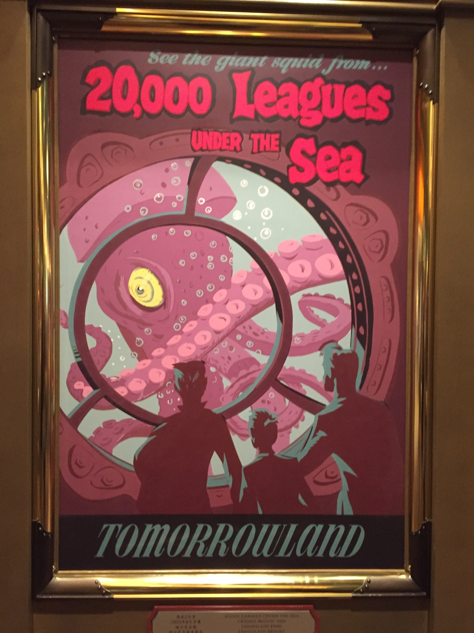 20,000 Leagues Under the Sea at Disneyland? It's a great poster, but I'm not sure what it's purpose is. Photo by J. Jeff Kober.