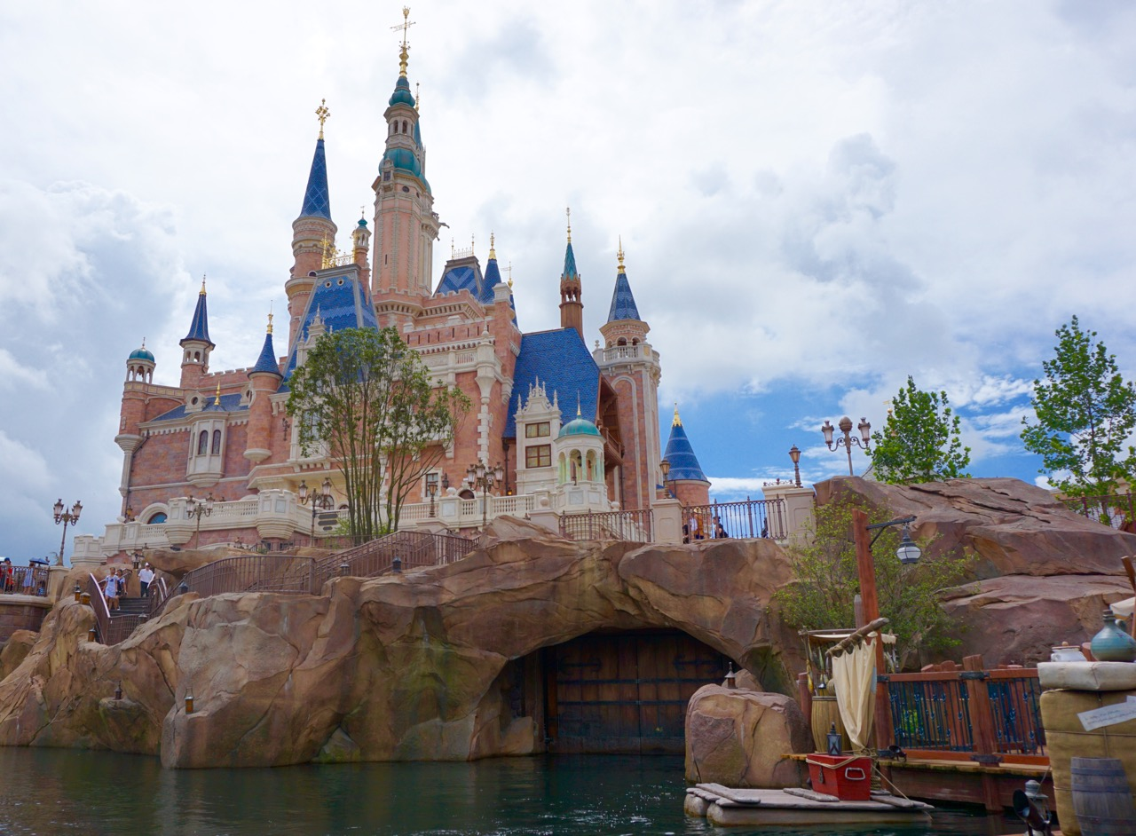 The centerpiece of Shanghai Disneyland as seen from the Voyage of the Crystal Grotto. Photo by J. Jeff Kober