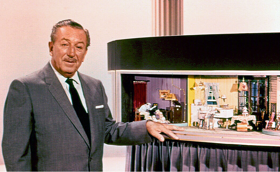 Walt showing off the model for the Carousel of Progress.