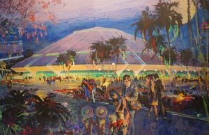 Love the colors in this depiction by Herb Ryman of Horizons.