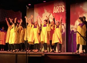 Local group of high school kids performing during the International Festival of the Arts. Photo by J. Jeff Kober.