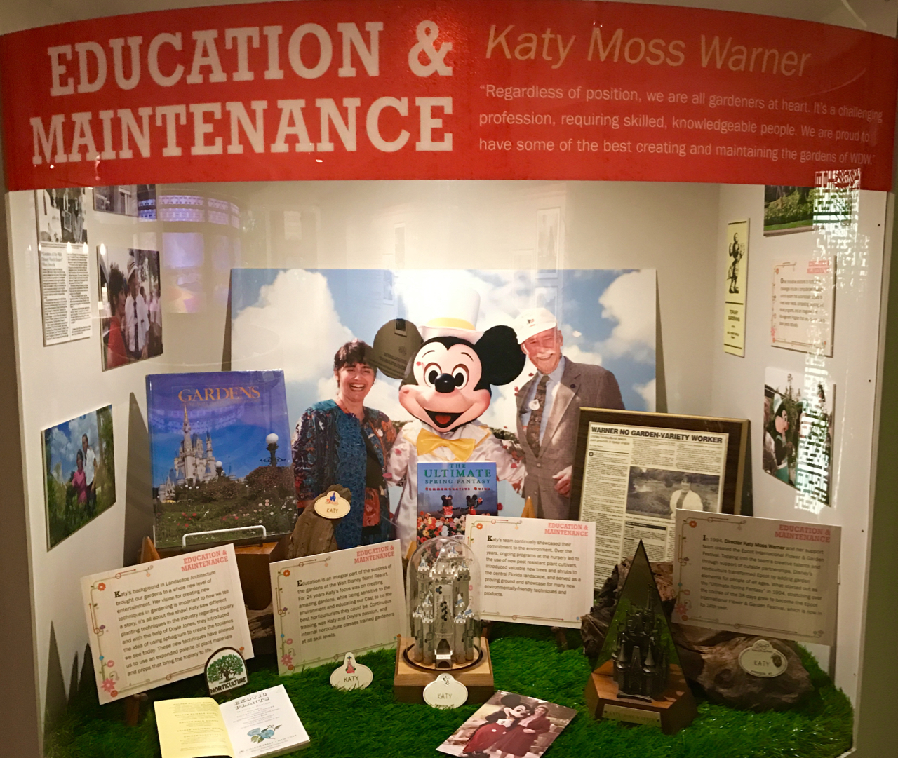 Katy Moss Warner is one passionate leader I got to know. She was a key figure in creating the Epcot Flower & Garden Festival.